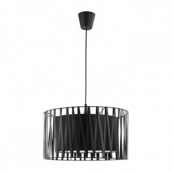 метален пендел, black, tk lighting, harmony black, 1x60w, 1654