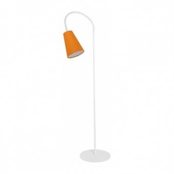 текстилен лампион, white+orange, tk lighting, wire colour, 1x60w, 3082