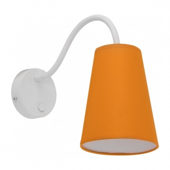 текстилен аплик, white+orange, tk lighting, wire colour, 1x60w, 2448