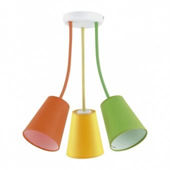 текстилен полилей, multicolour, tk lighting, wire colour, 3x60w, 2106