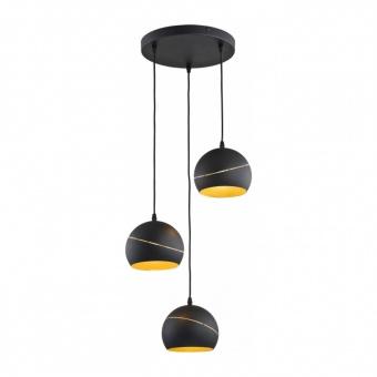 метален полилей, black, tk lighting, yoda black orbit, 3x60w, 2082