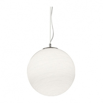 стъклен пендел, bianco, ideal lux, mapa riga sp1 d50, 1x60w, 161365