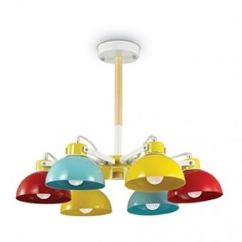 метален полилей, color, ideal lux, titti pl6, 6x60w, 157160