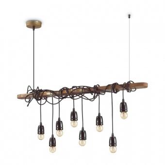 метален полилей, corten, ideal lux, electric sp8, 8x60w, 176369