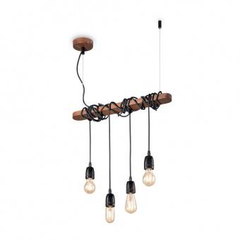 метален полилей, corten, ideal lux, electric sp4, 4x60w, 176352