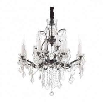 кристален полилей, ruggine, ideal lux, liberty sp12, 12x40w, 166551
