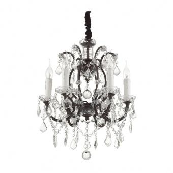кристален полилей, ruggine, ideal lux, liberty sp6, 6x40w, 073729