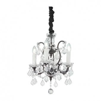 кристален полилей, ruggine, ideal lux, liberty sp4, 4x40w, 166544