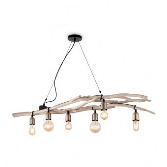 дървен пoлилей, beige, ideal lux, driftwood sp6, 6x60w, 180922