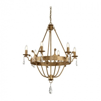 метален полилей, gold patina, elstead lighting, windsor, 6x60w, windsor6