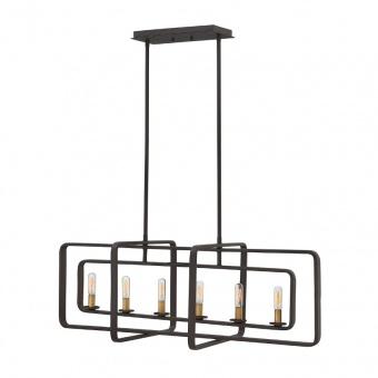 метален полилей, buckeye bronze, elstead lighting, quentin, 6x60w, hk/quentin/6isle
