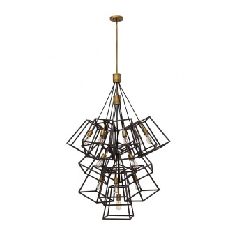 метален полилей, bronze, elstead lighting, fulton, 13x60w, hk/fulton/13p