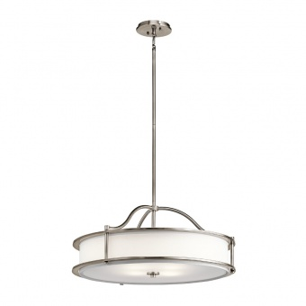 стъклен полилей, classic pewter, elstead lighting, emory, 4x100w, kl/emory/p/mclp