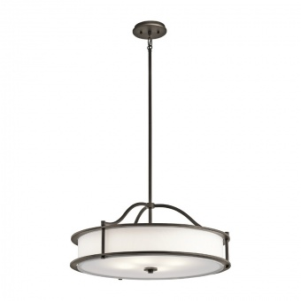 стъклен полилей, olde bronze, elstead lighting, emory, 4x100w, kl/emory/p/moz