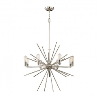 метален полилей, imperial silver, elstead lighting, carnegie, 8x60w, qz/carnegie8 is