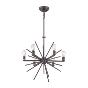 метален полилей, western bronze, elstead lighting, carnegie, 6x60w, qz/carnegie6