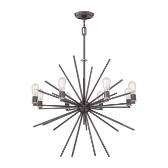 метален полилей, western bronze, elstead lighting, carnegie, 8x60w, qz/carnegie8