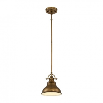 метален пендел, weathered brass, elstead lighting, emery, 1x100w, qz/emery/p/s ws