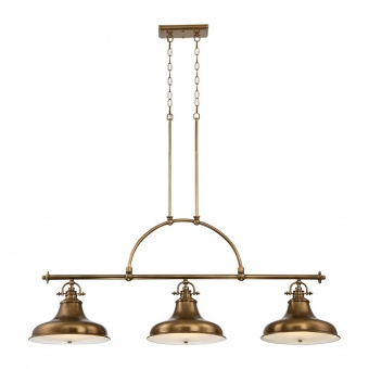метален полилей, weathered brass, elstead lighting, emery, 3x100w, qz/emery3p ws