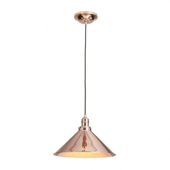 метален пендел, polished copper, elstead lighting, provence, 1x100w, pv/sp cpr