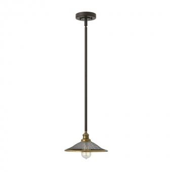 метален пендел, buckeye bronze, elstead lighting, rigby, 1x100w, hk/rigby/p kz