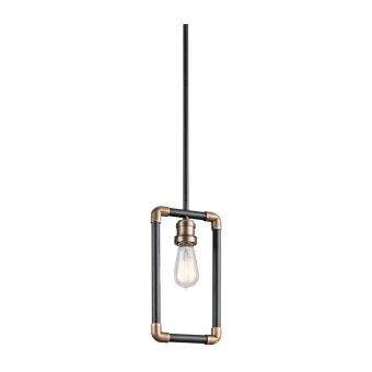 метален пендел, black/natural brass, elstead lighting, imahn, 1x60w, kl/imahn/mp