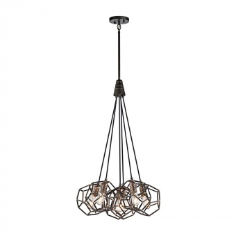 метален полилей, raw steel, elstead lighting, rocklyn, 6x100w, kl/rocklyn6 rs