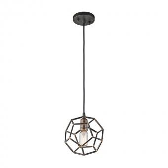 метален пендел, raw steel, elstead lighting, rocklyn, 1x100w, kl/rocklyn/mp rs