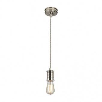 метален пендел, polished nickel, elstead lighting, douille, 1x60w, douille/p pn