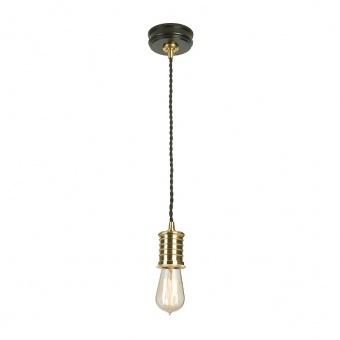 метален пендел, black/polished brass, elstead lighting, douille, 1x60w, douille/p bpb