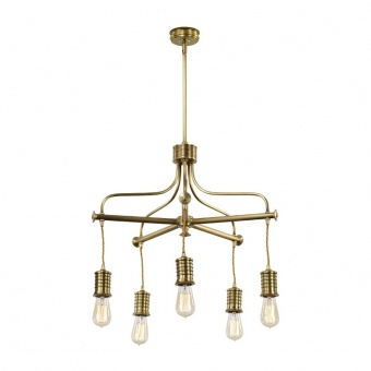 метален полилей, aged brass, elstead lighting, douille, 5x60w, douille5 ab