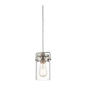 метален пендел, brushed nickel, elstead lighting, brinley, 1x60w, kl/brinley/mp ni