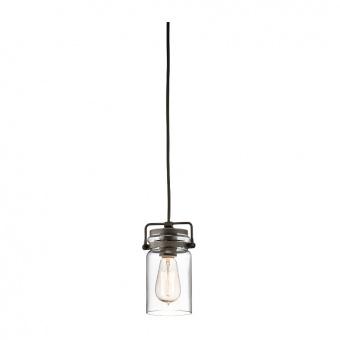 метален пендел, olde bronze, elstead lighting, brinley, 1x60w, kl/brinley/mp