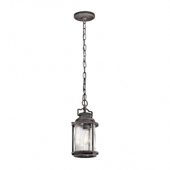 метален пендел, weathered zinc, elstead lighting, ashland bay, 1x60w, kl/ashlandbay8/s