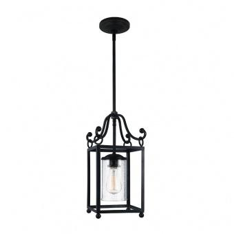 метален пендел, antique forged iron, elstead lighting, declaratoin, 1x60w, fe/declaration mp