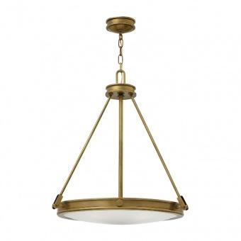 метален полилей, heritage brass, elstead lighting, collier, 4x60w, hk/collier/p