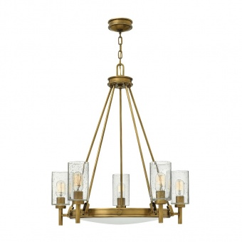 метален полилей, heritage brass, elstead lighting, collier, 5x100w, hk/collier5