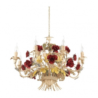 метален полилей, rosso, ideal lux, camilla sp8, 8x40w, 168081