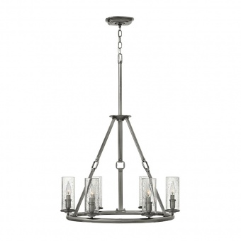 метален полилей, polished antique nickel, elstead lighting, dakota, 6x60w, hk/dakota6