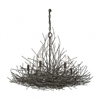 метален полилей, olde bronze, elstead lighting, organique, 6x60w, kl/organique6