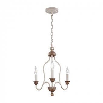 метален полилей, chalk washed/beachwood, elstead lighting, hartsville, 3x60w, fe/hartsville3