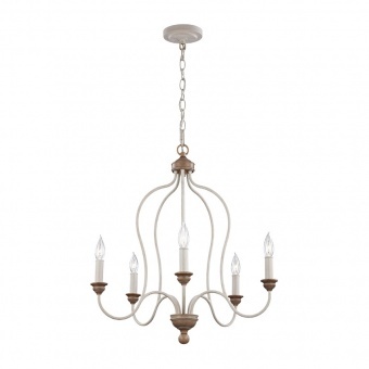 метален полилей, chalk washed/beachwood, elstead lighting, hartsville, 5x60w, fe/hartsville5