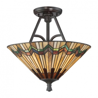стъклен полилей, valiant bronze, elstead lighting, alcott, 2x60w, qz/alcott/sf