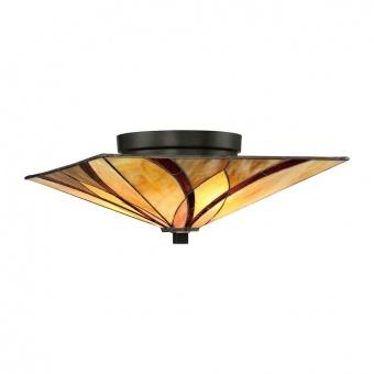 стъклен плафон, valiant bronze, elstead lighting, asheville, 2x60w, qz/asheville/f