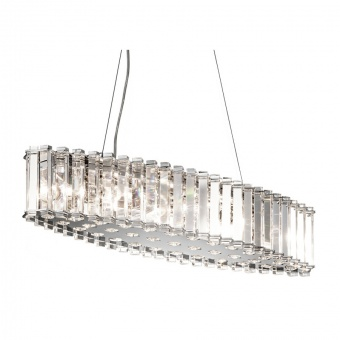 кристален полилей, polished chrome, elstead lighting, crystal skye, 8x3.5w, 3000k, 8x320lm, kl/crstskye/isle