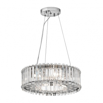 кристален полилей, polished chrome, elstead lighting, crystal skye, 6x3.5w, 3000k, 6x320lm, kl/crstskye/p/a