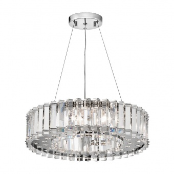 кристален полилей, polished chrome, elstead lighting, crystal skye, 8x3.5w, 3000k, 8x320lm, kl/crstskye8
