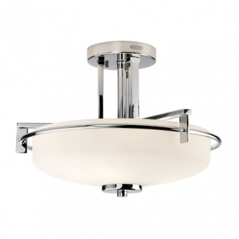стъклен полилей, polished chrome, elstead lighting, taylor, 3x3.5w, 3000k, 3x320lm, qz/taylor/sfbath