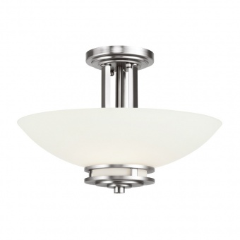 стъклен полилей, polished chrome, elstead lighting, hendrik, 3x3.5w, 3000k, 3x320lm, kl/hendrik/sf