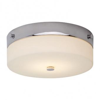 стъклен плафон, polished chrome, elstead lighting, tamar, 1x7w, 3000k, 540lm, bath/tam/f/m pc